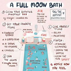 What better way to end a Sunday, than with a full moon bath ritual? Set intentions for the new moon while also getting in a little self… What better way to end a Sunday, than with a full moon bath ritual? Set intentions for the new moon Rituals Set, New Moon Rituals, Full Moon Ritual, Full Moon Spells, Witch Rituals, Full Moon Meditation, Wiccan Witch, Magick Spells, Wicca Witchcraft