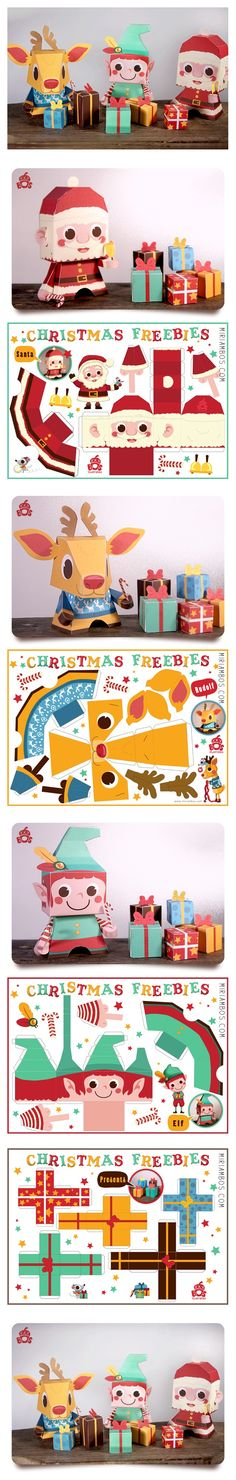 Xmas . printable . paper dolls . { would make gorgeous gift packaging } .