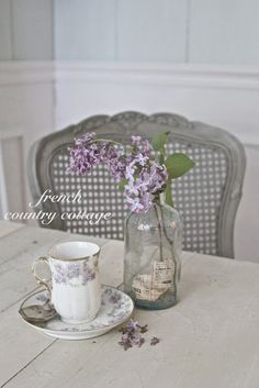 teacup and flowers