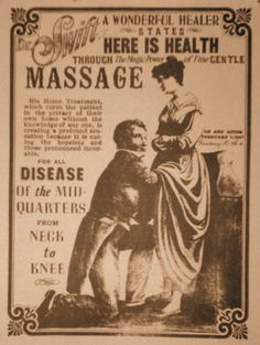 vintage massage Cervical manipulation-- yes, please, my back hurts. I could use an orgasm to fix that....