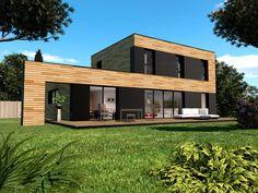 Maison ossature bois Seine-et-marne 77 Extension Designs, House Plans, Garage Doors, Shed, Outdoor Structures, Mansions, House Styles, Outdoor Decor, Home Decor