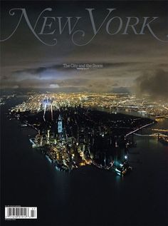 New York Magazine Covers Blackout  New York Magazine has on the cover this awesome photo by Iwan Baan showing the blackout in lower Manhattan after Hurricane Sandy.