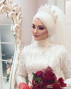 Setr-i Nur 0 850 466 19 76 # tesettürgelinbaşı … – Jena Downs Muslim Wedding Gown, Muslimah Wedding Dress, Muslim Wedding Dresses, Muslim Brides, Muslim Couples, Bridal Hijab Styles, Fluffy Wedding Dress, Dress Wedding, Modele Hijab