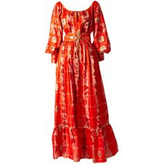 Pre-owned Ikat Gypsy Ensemble 1970's ($750) ❤ liked on Polyvore featuring suits outfits and ensembles and tie belt