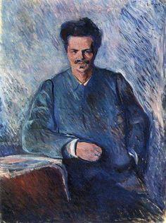 Expressionismo - Edward Munch - portrait of August Strindberg 1892