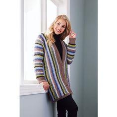 Mary Maxim - Slipped Stitch Jacket - Small, Med