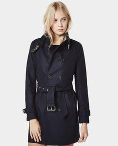 manteau fa on trench en drap de laine manteaux femme. Black Bedroom Furniture Sets. Home Design Ideas