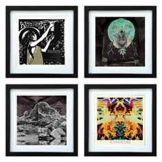 All Them Witches - Framed Album Art - Set of 4 Images by ArtRockStore on Etsy