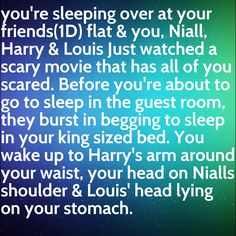 Imagine the guys staying with you all night! Cute