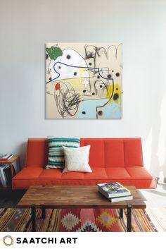 Liven up your living space with a well placed abstract painting. Artwork ties the room together and brings out the nuanced colors in the rest of your d�cor. Check out Saatchi Art's large selection of artwork for your living room.