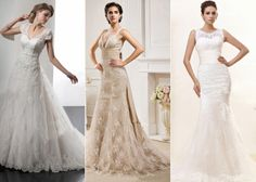 Top three lace wedding dresses. Which one is your favorite?