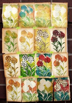 like this work on an old book pages... same design in different looks!