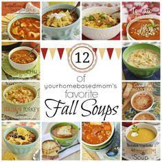 Favorite Fall Soups @yourhomebasedmom.com #soups