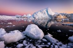 The great colors of a sunset in Disko Bay - Greenland by Stefan Forster