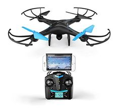 Force1 U45W Blue Jay WiFi FPV Drone w HD Camera Altitude Hold  1Key TakeoffLanding VR HeadsetCompatible Drone w Customizable Route Mode ** Find out more about the great product at the image link. Note: It's an affiliate link to Amazon