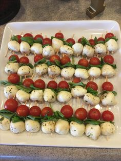 Once upon a Time bridal shower, caprese salad appetizers.