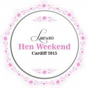 Elegant Personalised Hen Party Stickers (Pack of 10)