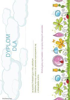 Dyplomy za frekwencję Kindergarten, Printables, Education, Wallpaper, Tags, Print Templates, Wallpapers, Kindergartens, Onderwijs