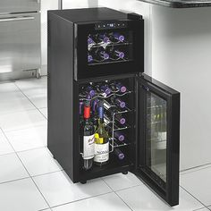 Wine Enthusiast Silent 21 Bottle Dual Zone Touchscreen Wine Refrigerator at Wine Enthusiast - $249.00
