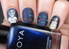 The Digit-al Dozen DOES Metal, Day Cybermen Vs. The Daleks! by Adventures in Acetone Nails Inc, My Nails, Doctor Who Nails, Funny Fingers, Striping Tape, Exotic Nails, Fingernail Designs, Acetone, Pretty Nails
