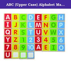 ABC (Upper Case) Alphabet Magnets. WED-3107 Features: -Play and learn alphabet, spelling and reading words with pictures. -Eco-Friendly: Environmentally friendly rubberwood and strictly using non-toxic paints, dyes and lacquers and formaldehyde free glue. -Eco-Friendly: Packaging is made from at least 70% Recycled paper. -44 Pieces magnets included. Number Of Pieces: -25 - 100. Gender: -Boy/Girl. Theme: -Alphabet And Numbers. Product Type: -Mix And Match Puzzles. Age: -3 - 5 Years…
