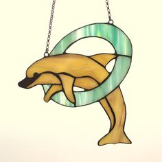 Stained glass fish  stained glass dolphin. A by AmberGlassArt