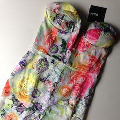 ASOS Petite Floral Bandeau Midi Dress Lovely ASOS Petite Floral Bandeau Midi Dress in Gorgeous Spring Colors. NWT ASOS Dresses Midi