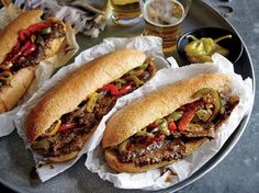 This Chicago Style Italian Beef Hoagies Recipe uses chuck roast to give this sandwich recipe big fla . Healthy Sandwiches, Wrap Sandwiches, Sandwich Recipes, Hoagie Sandwiches, Dog Recipes, Italian Beef Recipes, Italian Roast Beef, Roast Beef Sandwich, Recipe Finder