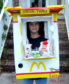 McDonalds Drive-Thru costume - nice job on this costume!