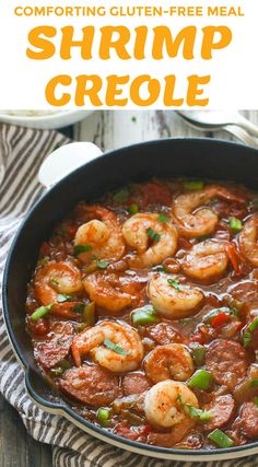 Creole -Shrimp Creole - Delicious homemade shrimp etouffee with an authentic, rich creole flavor. Best served with hot rice! New Orleans Style Shrimp Creole Cajun Shrimp Recipes, Easy Chicken Recipes, Fish Recipes, Seafood Recipes, Healthy Recipes, Donut Recipes, Shrimp Creole Recipe New Orleans, Cajun And Creole Recipes, Cajun Recipes