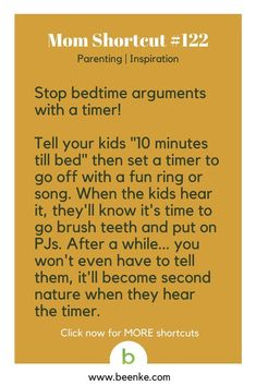 Parenting Hacks To Simplify Your Family Life - Beenke : Parenting and Inspiration Shortcuts Bed Time Timer. Get your daily source of awesome life hacks and parenting tips! CLICK NOW to discover more Mom Hacks. Parenting Books, Parenting Teens, Kids And Parenting, Parenting Plan, Parenting Styles, Parenting Quotes, Parenting Articles, Foster Parenting, Just In Case