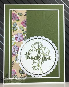 Thank You card showcasing the Love What You Do stamp set from Stampin' Up! by Kathleen Wingerson www.kathleenstamps.com #lovewhatyoudo #SU #StampinUp #kathleenstamps #kathleenwingerson #thankyoucard #stitchedshapesframelits