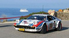 Unusual, Ferrari in Martini livery.