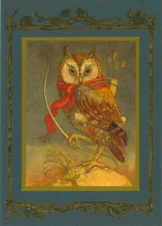 Owl with Quiver -  Charles van Sandwyk