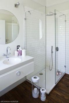 Wnętrze dnia - Mała łazienka w bloku - Urzadzamy.pl