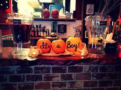 Fall Baby Shower It's a Boy pumpkins