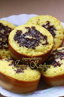 """Pinch pancake or known as Kue cubit in Indonesia. Named as such because of its tiny size and you almost need to """"pinch"""" it to pick it up and eat it. Soft and chewy. Delicious!"""