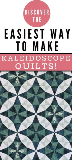Yes - it is fun to make Kaleidoscope quilts when you use the right tool - get your Wedge Star tool and get started! Kaleidoscope Quilt, Diamond Point, Quilt Sizes, Triangle Quilts, Triangles, Quilting Tutorials, Pattern Making, Hand Sewing, Quilt Patterns