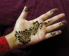 leafy floral henna