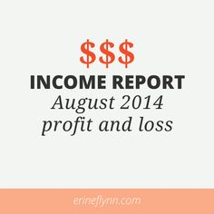 Income Report - August 2014