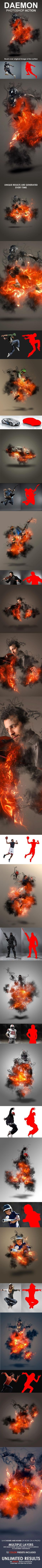 Daemon Burn in Hell Photoshop Action