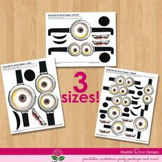 minion diy birthday party ideas | Despicable Me Party Favors INSTANT DOWNLOAD by MaddieRoseDesignz