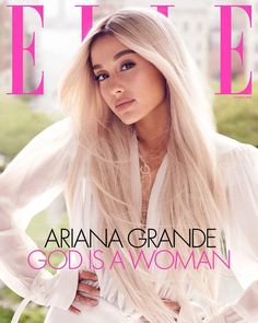 """Ariana Grande is known as much for her ponytail as she is for her music, where a waist-length pony has become synonymous with the """"No Tears Left To Cry"""" artist. But Ariana Grande wore her hair down for an Elle cover, and she is almost unrecognizable… Ariana Grande Fotos, Ariana Grande 2018, Ariana Grande Cover, Ariana Grande Photoshoot, Fashion Magazin, Elle Us, Elle Magazine, Magazine Covers, Magazine Photos"""