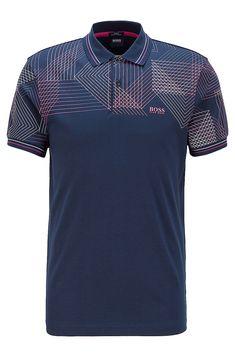 Mens Polo T Shirts, Slim Fit Polo Shirts, Printed Polo Shirts, Polo Tees, Blue Polo Shirts, Collar Shirts, Polo Shirt Design, Hugo Boss, Dark Blue