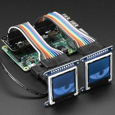 Adafruit Animated Eyes Bonnet for Raspberry Pi Mini Kit - Without Displays - The Snake Eyes Bonnet is a Raspberry Pi accessory for driving two 128x128 pixel OLED or TFT LCD displays, and also provides four analog inputs for sensors. It's perfect for making cosplay masks, props, spooky sculptures for halloween, animatronics, robots...anything where you want to add a pair of animated eyes!