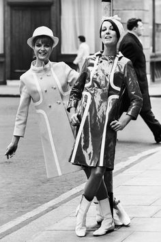 24 Classic Street Style Shots You've Never Seen Before #refinery29  http://www.refinery29.com/vintage-street-style-pictures#slide-12  Oh! There you are! Two racing stripe coats are better than one (kinda look like Carven and we don't hate it).