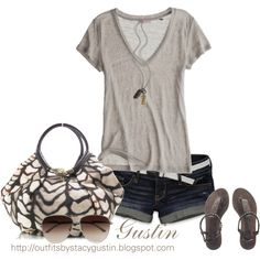 tan t shirt, created by stacy-gustin on Polyvore