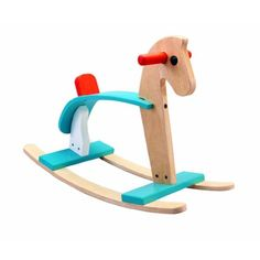 """Eco-Friendly Arabian Rocking Horse Constructed with Organic Rubberwood, Safe, Water-Based Dyes, and Non-Formaldehyde Glue.. Arabian Rocking Horse built on parallel rockers. Helps develop children's balance, strength, leg muscles and quick movement of the body.. Comes from rubberwood trees that are too old to produce latex.. Dimensions: 10.4"""" x 27.6"""" x 18.1""""."""