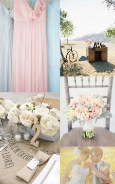 @Lisa Potter this is a bit rustic, but I love the low arrangements in boxes/tins. Tulle or lace doilies to add texture instead of burlap