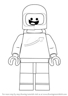 Learn How to Draw Benny from The LEGO Movie (The Lego Movie) Step by Step : Drawing Tutorials